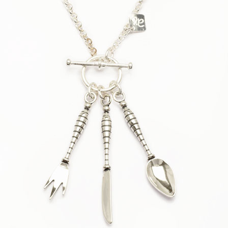 Halsband bestick silver Anna Örnbeg