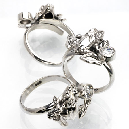 Ring groda silver Anna Örnberg