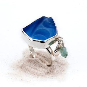 Ring glas silver Anna Örnberg
