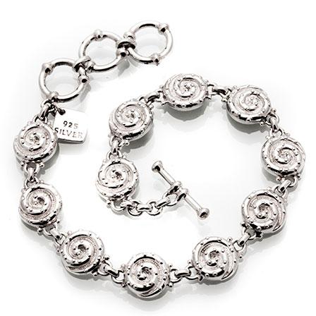 Kanelbullar silver armband Anna Örnberg