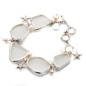 Armband glas silver Anna Örnberg