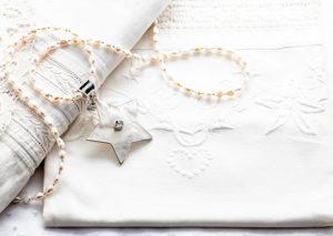 Stjärna hängsmycke silver pärlemor Anna Örnberg