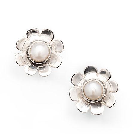 Örhängen silver pärla Anna Örnberg