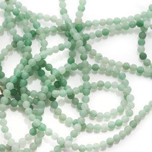 Grön jade pärlat halsband Anna Örnberg