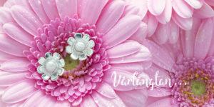 blomma silver örhängen