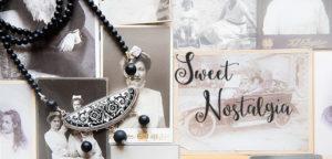 NOSTALGIA halsband silver vintage porslin Anna Örnberg