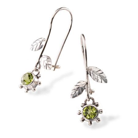 Örhänge blomma silver Anna Örnberg peridot