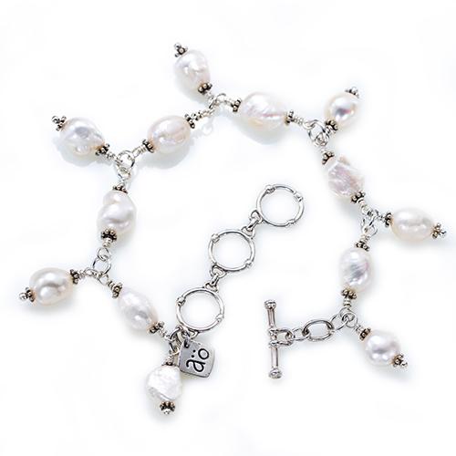 Armband silver pärlor Anna Örnberg