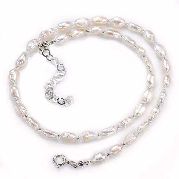 Pärlor silver halsband Anna Örnberg